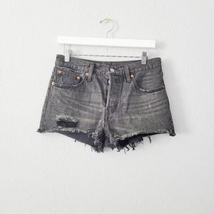 Levis 501 button up Cut of shorts